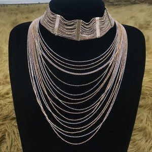 Like New Natasha layered choker necklace